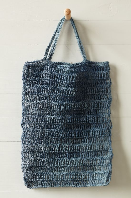 crochet summer bag + habu pineapple ramie yarn: how-to