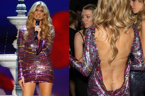 Heidi Klum Wore Backless Dress Dresses Backless Mini