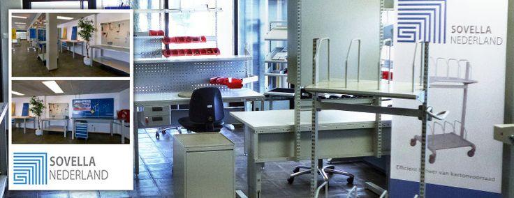 Sovella Nederland Treston | Sovella-Treston Showroom | Ook voor werktafels, inpaktafels, trolleys, wandrails, haken en (perfo)panelen