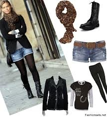 Cute outfit with combat boots!