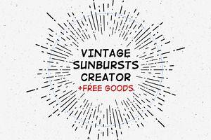 Vintage Sunburst Creator