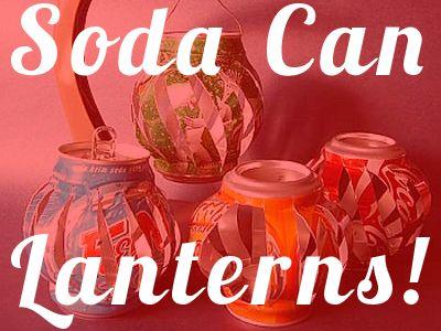 Soda can lanterns.: Electric Tealight, Crafts Diy Organizations, Can Lanterns, Crafts Ideas, Diy Crafts, Candles, Cans Lanterns, Soda Can Crafts, Sodas Cans Crafts