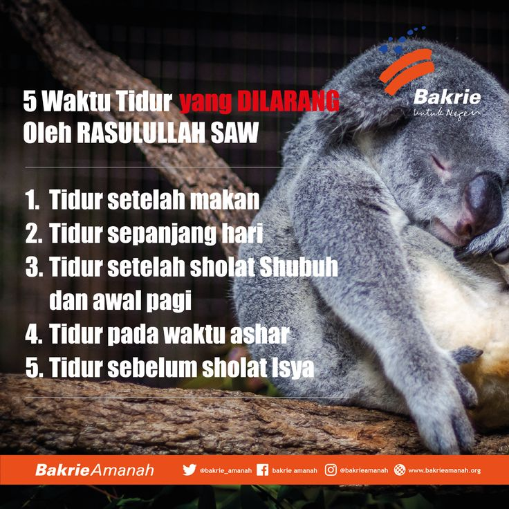 5 Waktu tidur yang dilarang oleh Rasulullah SAW