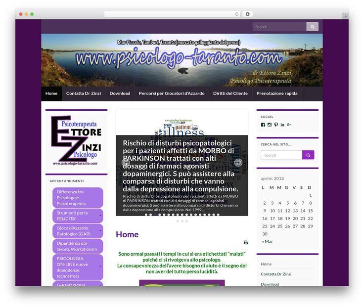 Graphene WordPress theme - psicologo-taranto.com ...
