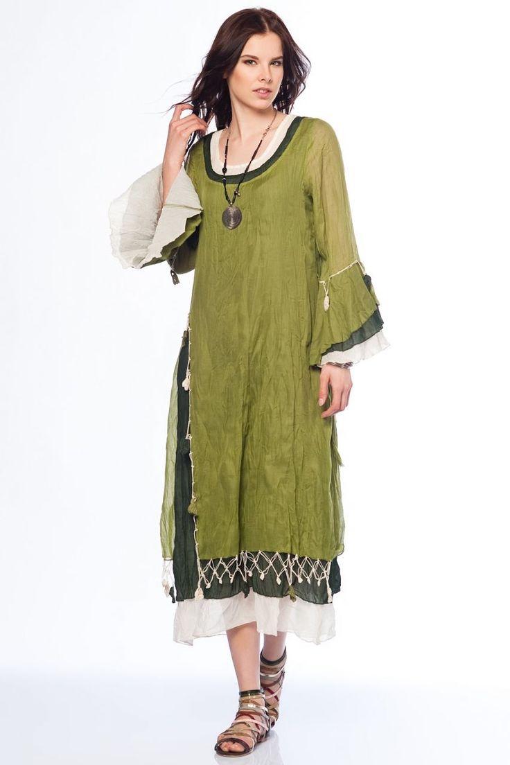 Otantik Gümbet Elbise - Yeşil
