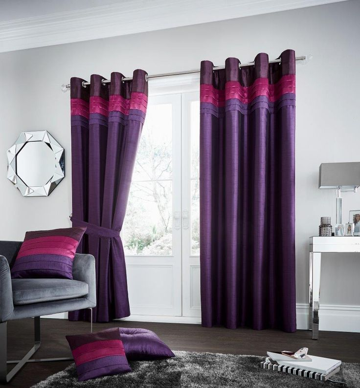 La Moda Plum Lined Eyelet Curtains – Linen and Bedding