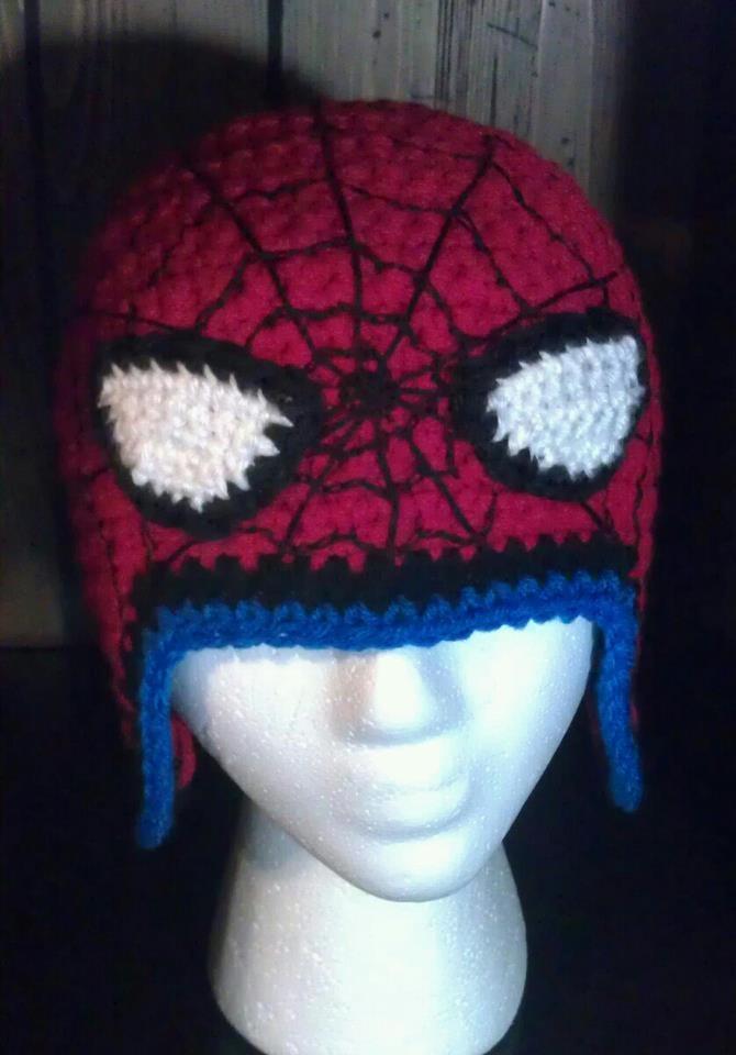 Spiderman Crochet Hat Pinned With Pinvolve Crochet