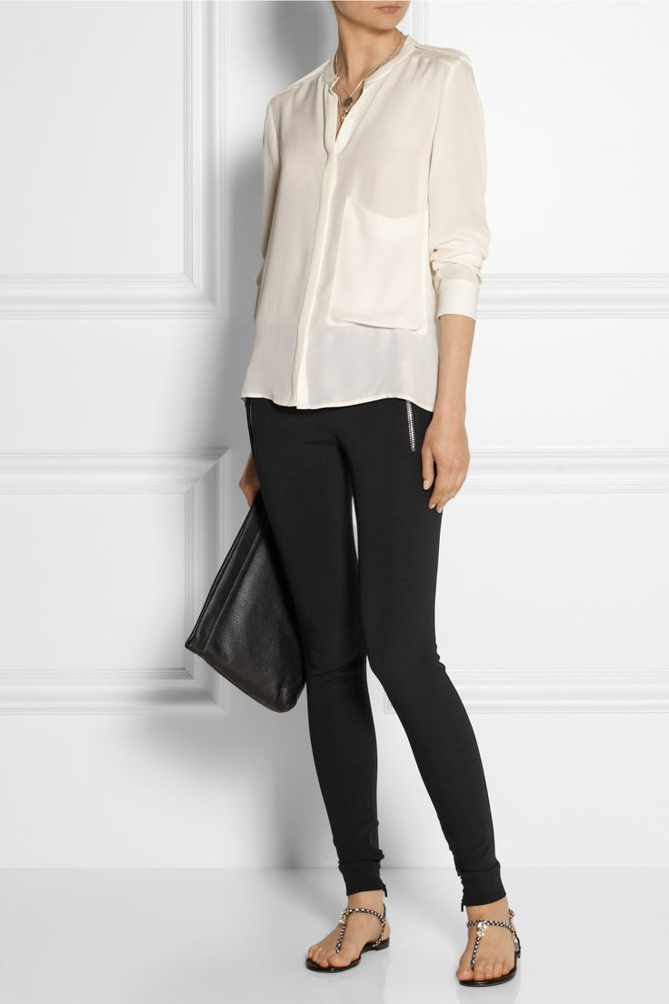 GUCCI Stretch-cady leggings-style pants u00a3438.23 http//www.net-a-porter.com/products/441856 ...