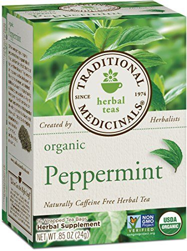 Traditional Medicinals Organic Peppermint Tea, 16 Tea Bags (Pack of 6) Traditional Medicinals http://www.amazon.com/dp/B0009F3PJ4/ref=cm_sw_r_pi_dp_E.k5wb0GV9T6Y