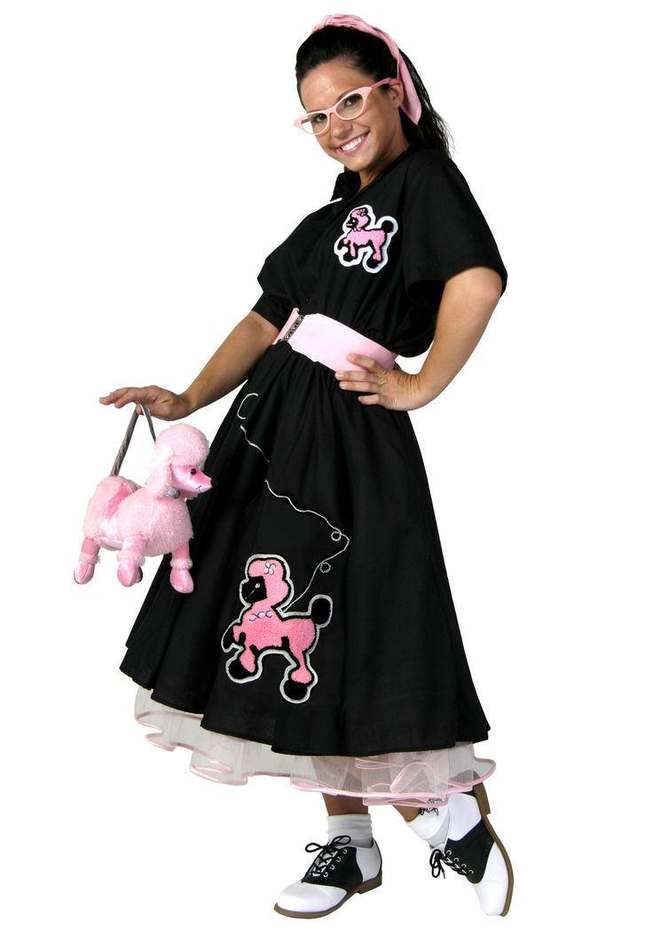 Plus Size Deluxe Sock Hop Costume