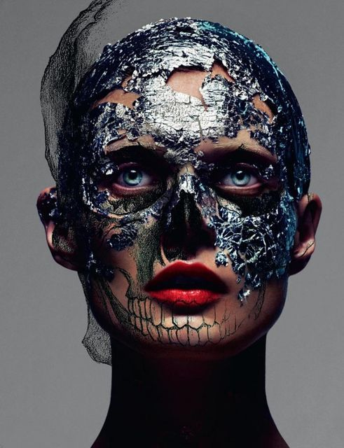 by  mert & marcus  love magazine # 8  autumn 2012     daily needs of a glamour queen: Because, Malgosia Advocate, Magazine, Skull, Fashion, Inspiration, Makeup, Marcus