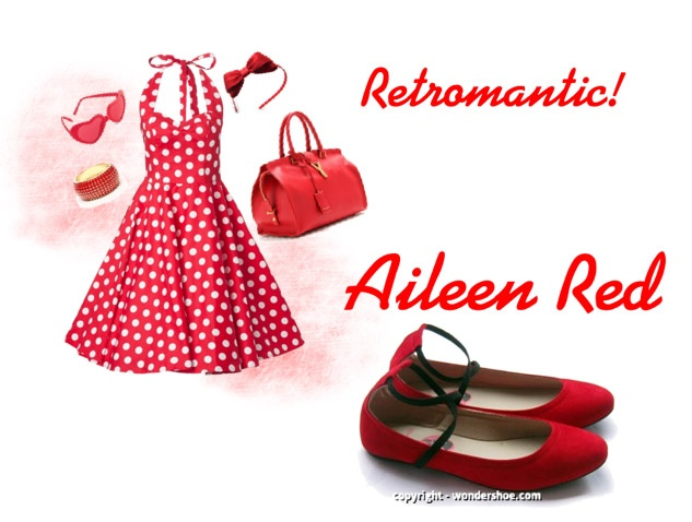 Thinking to go retro? Get Aileen Red for that bold flair!