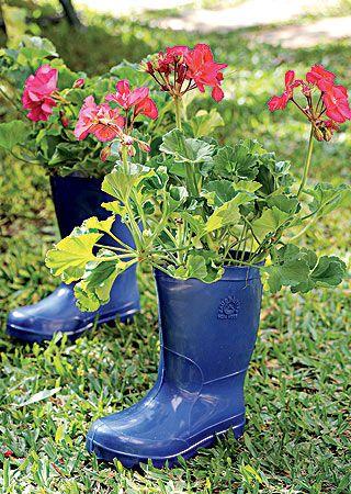 ideas originales botas troncos macetas plantas varios interiores proyectos plantas en maceta