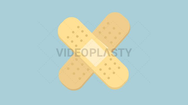 A yellow band aid that you put on wounds until they heal so they don't get infected designed in flat design style. Three version are included:in/out loop andin (can be extended with the loop version) Clip Length:10 seconds Loopable: Yes Alpha Channel: Yes Resolution:FullHD Format: Quicktime MOV