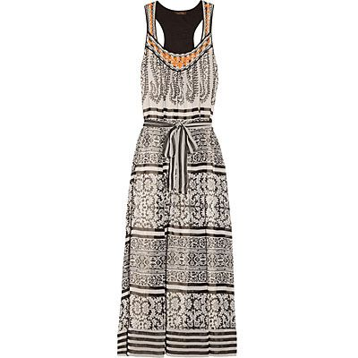 Vineet Bahl embroidered printed chiffon dress - Summer Sales | InStyle UK