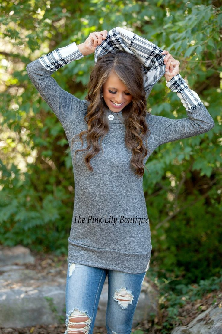 The Pink Lily Boutique - Long Road Home Hoodie Charcoal , $39.00 (http://thepinklilyboutique.com/long-road-home-hoodie-charcoal/)
