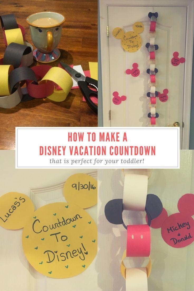 Bibbidi Bobbidi Mom: How to Make A Disney Vacation Countdown!                                                                                                                                                                                 More