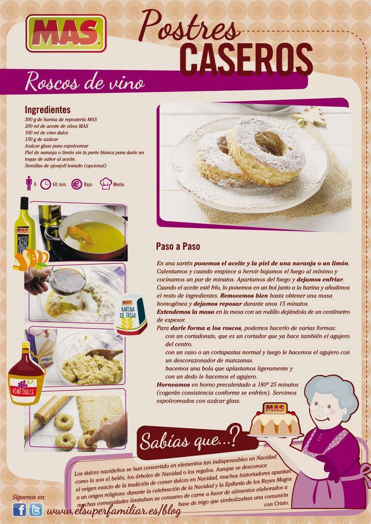 Roscos de Vino y ¡a disfrutar de la #Navidad!   #Recetas #reposteria #Infografia #InfoRecetas #Recipes