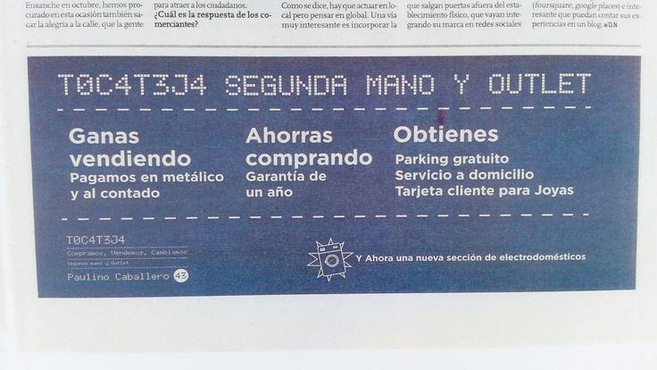 Anuncio en Diario de Navarra