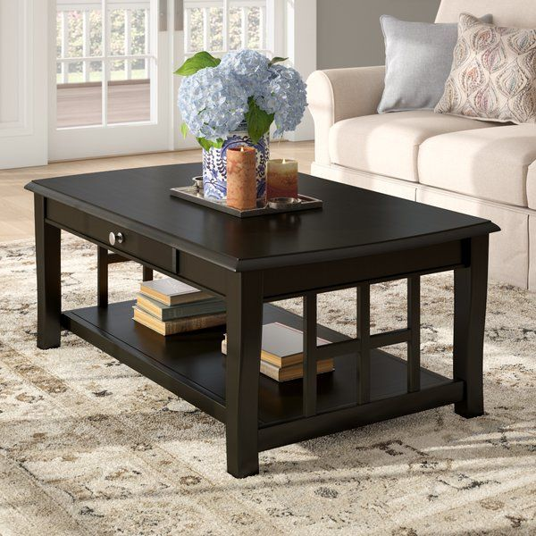 Jennings Coffee Table With Storage With Images Coffee Table Coffee Table Rectangle Dark Wood Coffee Table