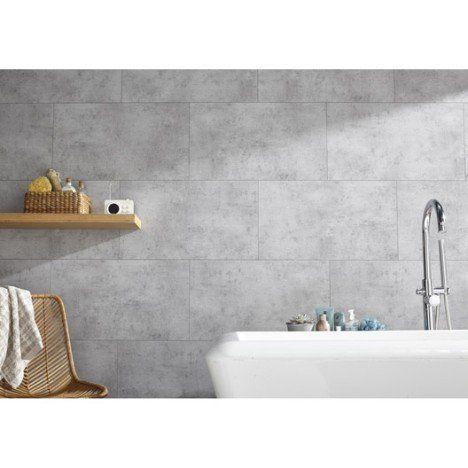 Dalle murale PVC gris clair Dumawall + L.65 x l.37.5 cm x Ep.5 mm