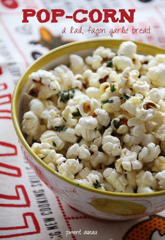 pop-corn à l'ail - garlic popcorn                                                                                                                                                                                 Plus
