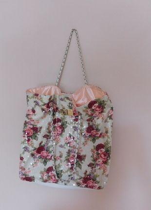 Kup mój przedmiot na #vintedpl http://www.vinted.pl/damskie-torby/torby-na-ramie/14080521-torebka-worek-floral-cekiny