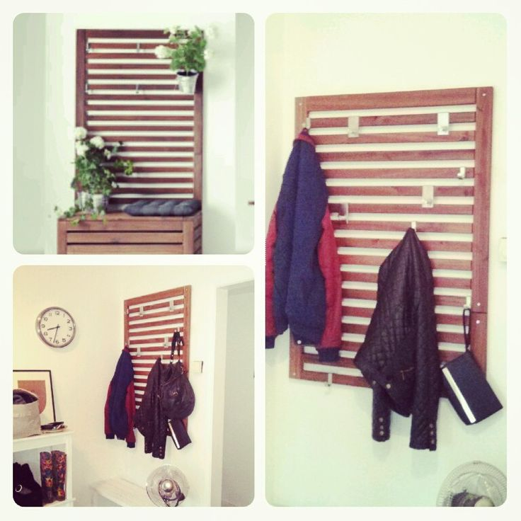 repurpose ikea furniture for wall panel - entry- PPLAR Wall panel/Coat  rack and Backpack rack - IKEA Hackers