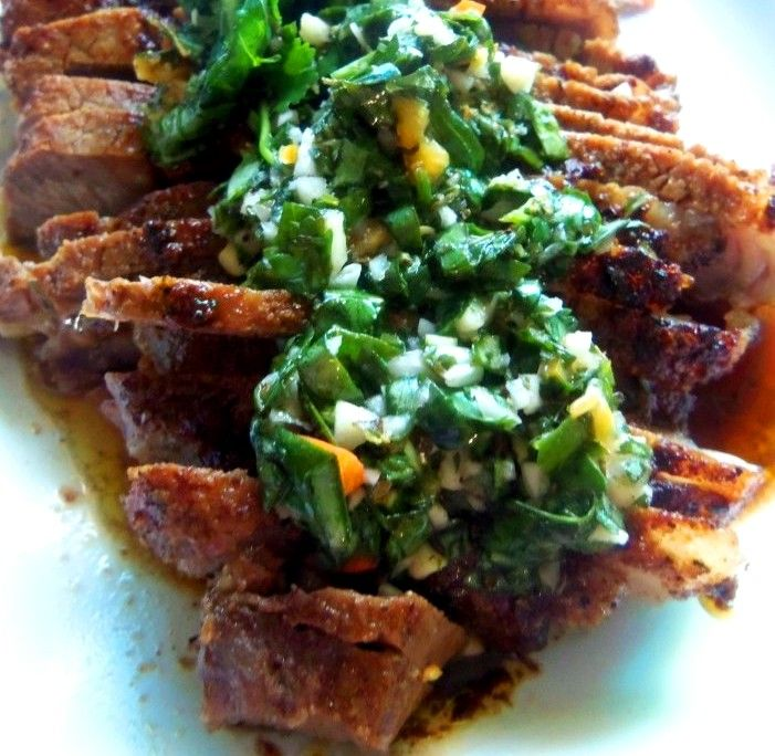 Sirloin Steak With Chimichurri - Hispanic Kitchen
