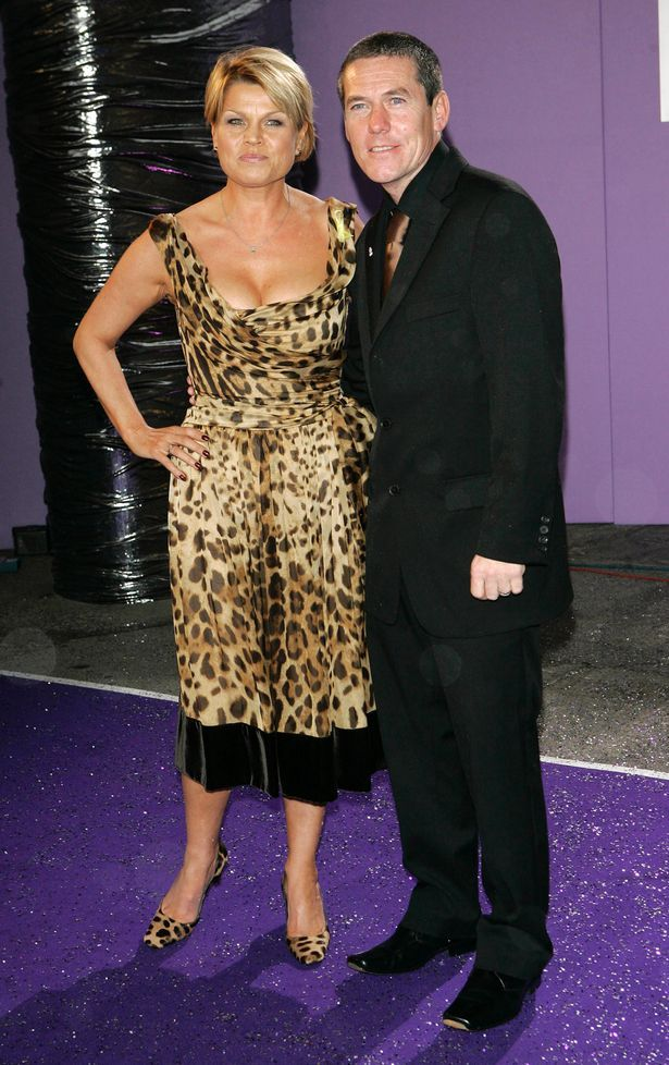 Vicky Entwistle with husband Andy.