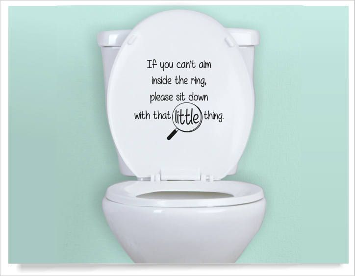My Aim Is To Clean Toilet Novelty Funny Quote Vinyl Decal Bathroom Sticker Wall