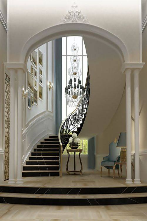 17 best images about dream home entry hall staircase for Staircase ideas near entrance