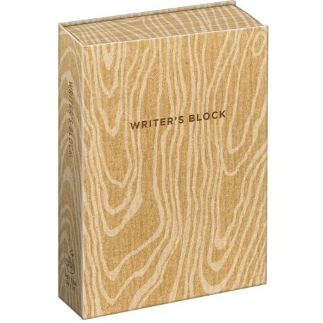 From the Literary Gift Company. Writer s Block Notebook Description A notebook brilliantly designed to look like a block of wood The cover is textured and the page edges printed