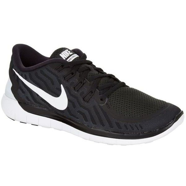 Nike Free 5.0 Running Shoe ($145) ❤ liked on Polyvore featuring shoes, athletic shoes, sneakers, light weight shoes, nike footwear, lightweight shoes, nike athletic shoes and nike