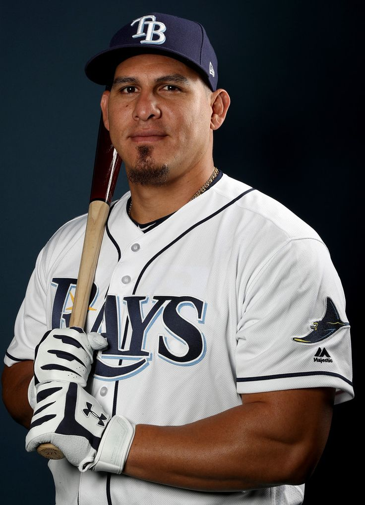 Wilson Ramos #40 of the Tampa Bay Rays poses for a portrait during Tampa Bay Rays photo day on February 18, 2017 at Charlotte Sports Park in Port Charlotte, Floida.