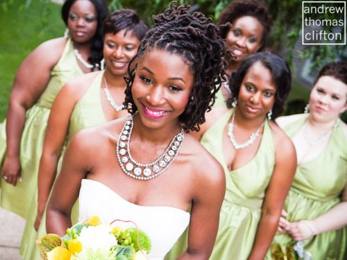 Lovely bridal locs! I will probably do this with two-stranded twists, though, instead of locs.