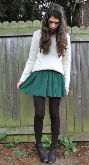 I really do love sweaters over dresses.