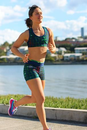 subXsports Active Wear Emerald Space Crop $55AUD and Shorts $45AUD