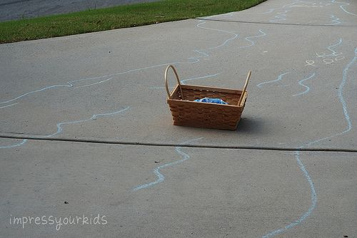 In summer, act out Bible stories with chalk sets!: Baby Moses