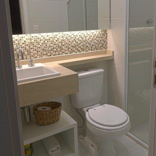 +1000 ideias sobre Banheiros Pequenos Planejados no Pinterest  Cuba Quadrada -> Banheiro Pequeno E Clean