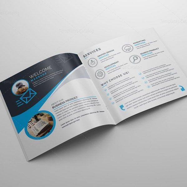 Square Bi Fold Business Brochure Template Template Catalog Brochure Design Template Modern Business Cards Design Business Brochure