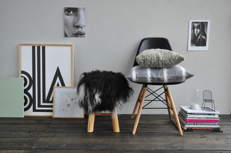 The Bèèèh Stool - Zwart/Wit | Stockhome Shop