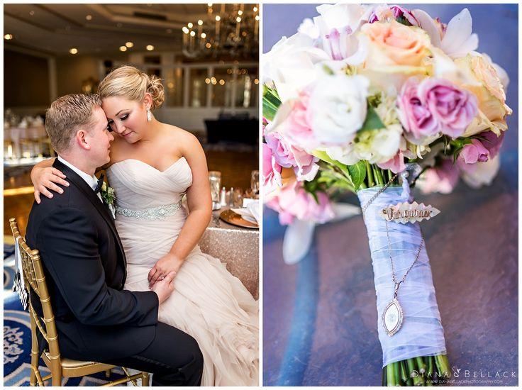 Diana Bellack Photography, Virginia Wedding Photographer, Chantilly VA wedding photographer, rose gold wedding, Westfields Marriott, pastel pink bouquet, rose gold wedding dress, classic wedding couple, Fall wedding