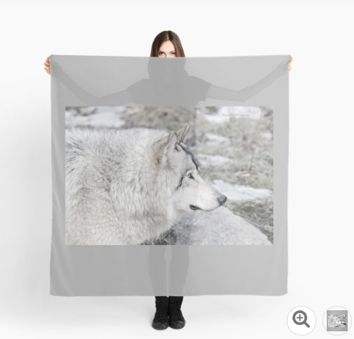 Timber Wolf Profile by Yannik Hay Photography - Also available as tees, scarves, duvet cover, ipad, skin, mug, prints, pencil skirt, tote bags, pillows, notebook, hardcover journal, etc