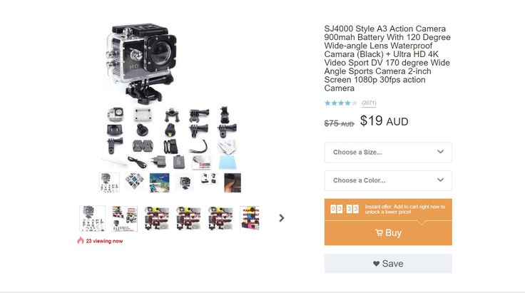 A small gopro like camera with enough for me to check out whether or not I want to purchase a full on quadcopter with 4K recording, this one I can sling under the drone I have, as it's tiny and light, if I find enough interest in myself I'll invest in something a litte more professional