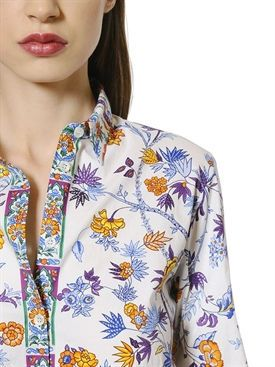etro - donna - camicie - camicia in popeline di cotone