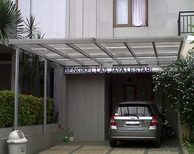 Contoh Desain Kanopi Minimalis  Home n Interior  Carport designs Backyard pergola Building a
