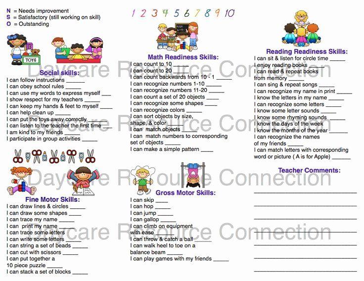 Preschool Progress Report Template Awesome Image Result For Preschool Progress Report S Report Card Template Kindergarten Report Cards Progress Report Template