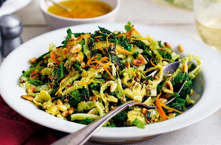 Quick & healthy, tender leafed Savoy cabbage is sautéed & paired with a refreshing orange dressing. Find more quick & healthy recipes at Tesco Real Food.