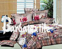 Постельное бельё полуторное Hello Kitty 150*220 хлопок (4246) TM KRISPOL Украина